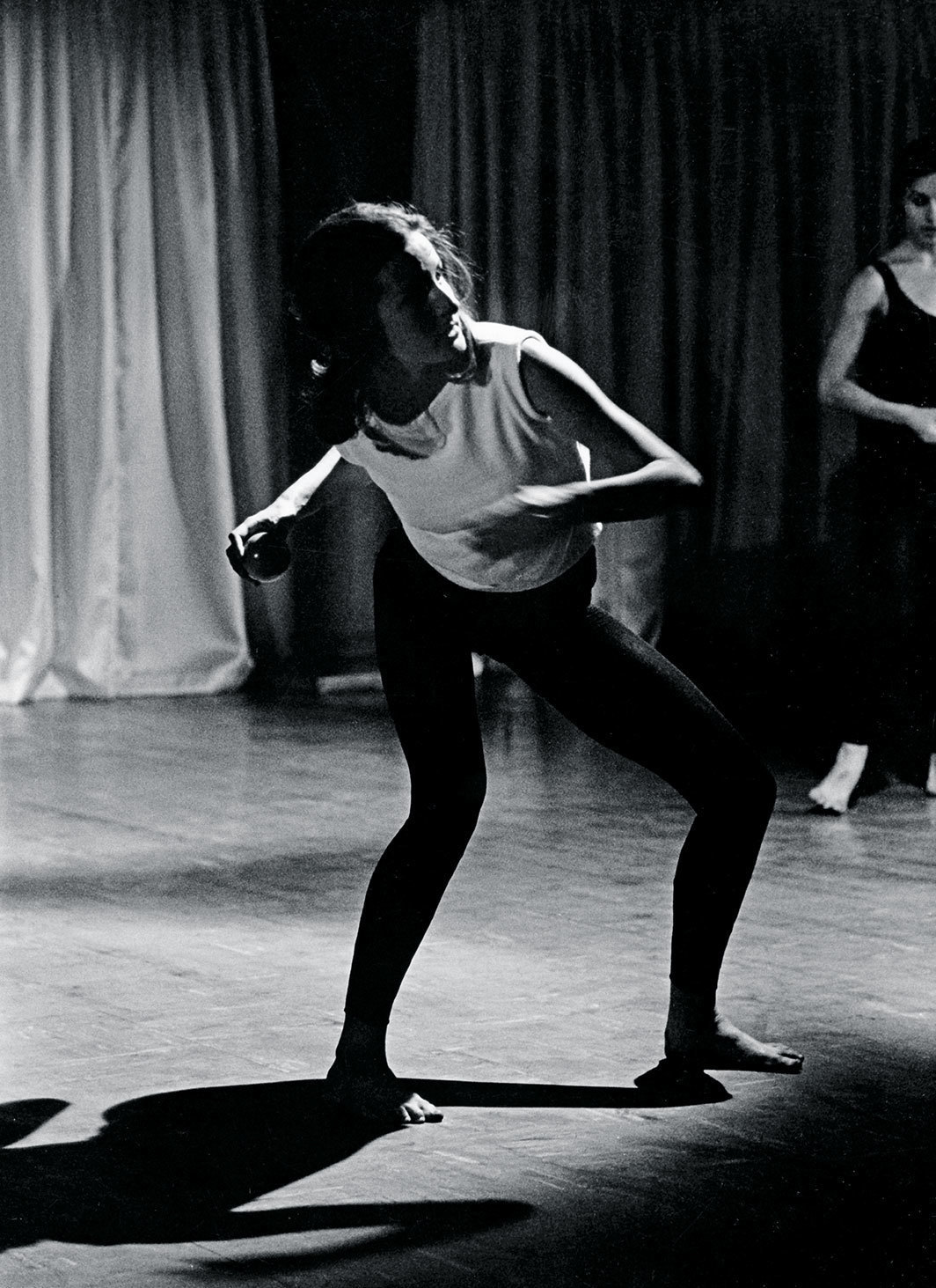 Yvonne Rainer, Terrain, 1963. Performance view, Judson Memorial Church, New York, April 28, 1963. Trisha Brown. Photo: Al Giese.
