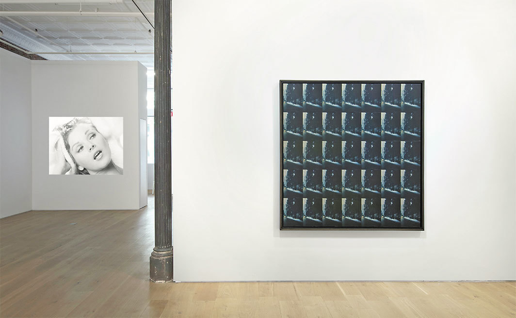 "View of ""Peter Roehr,"" 2018. From left: Film-Montagen I–III, 1965; Untitled (FO–52), 1965. Photo: Jeremy Lawson."