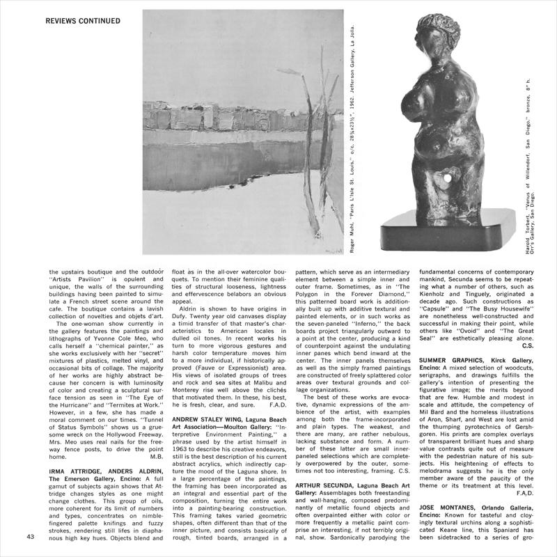 Reviews – Artforum International