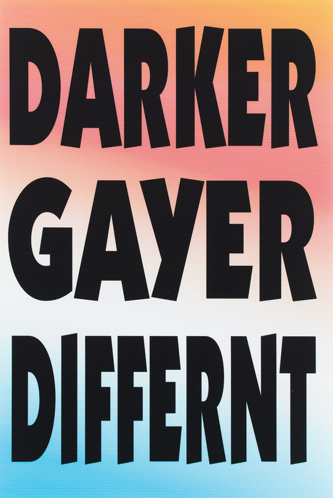"*Paul Chan, Darker, Gayer, Differnt, 2018,* ink-jet print, 36 × 24""."