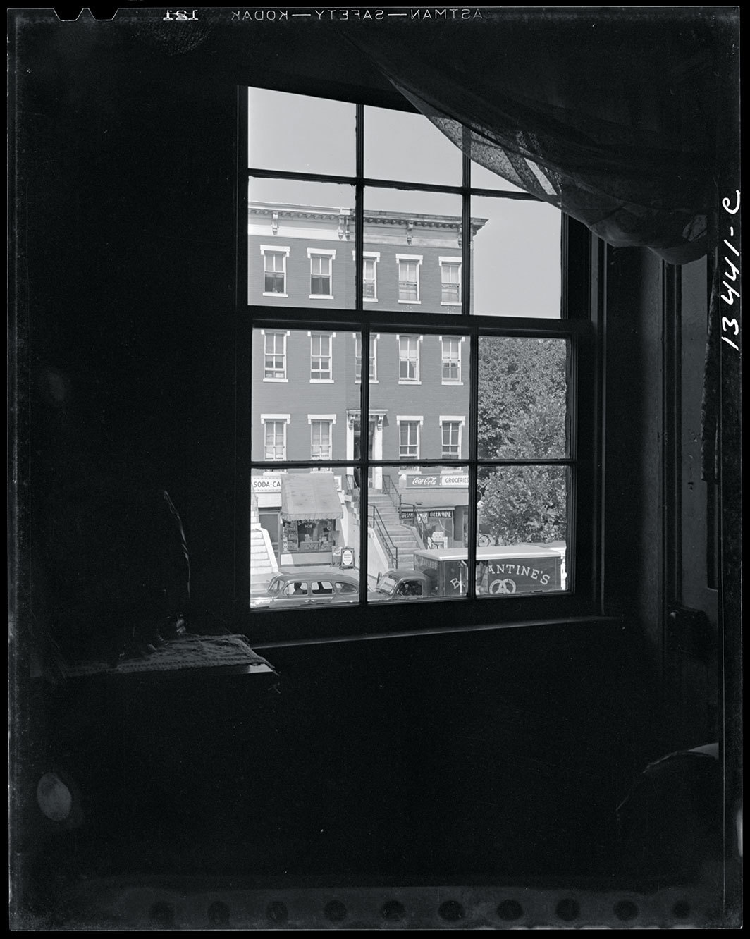 Gordon Parks, View from the bedroom window of Mrs. Ella Watson, a government worker, Washington, D.C., August 1942 Credit Library of Congress, Prints & Photographs Division, FSA/OWI Collection.