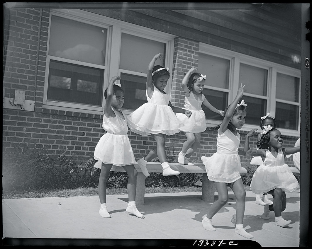Gordon Parks, A dance group, Frederick Douglass housing project, Anacostia, Washington, D.C., June 1942. Credit Library of Congress, Prints & Photographs Division, FSA/OWI Collection.