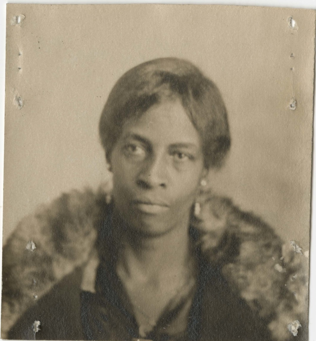 Photograph of Ella Watson from her personnel file at the National Archives and Records Administration, ca. 1920s.