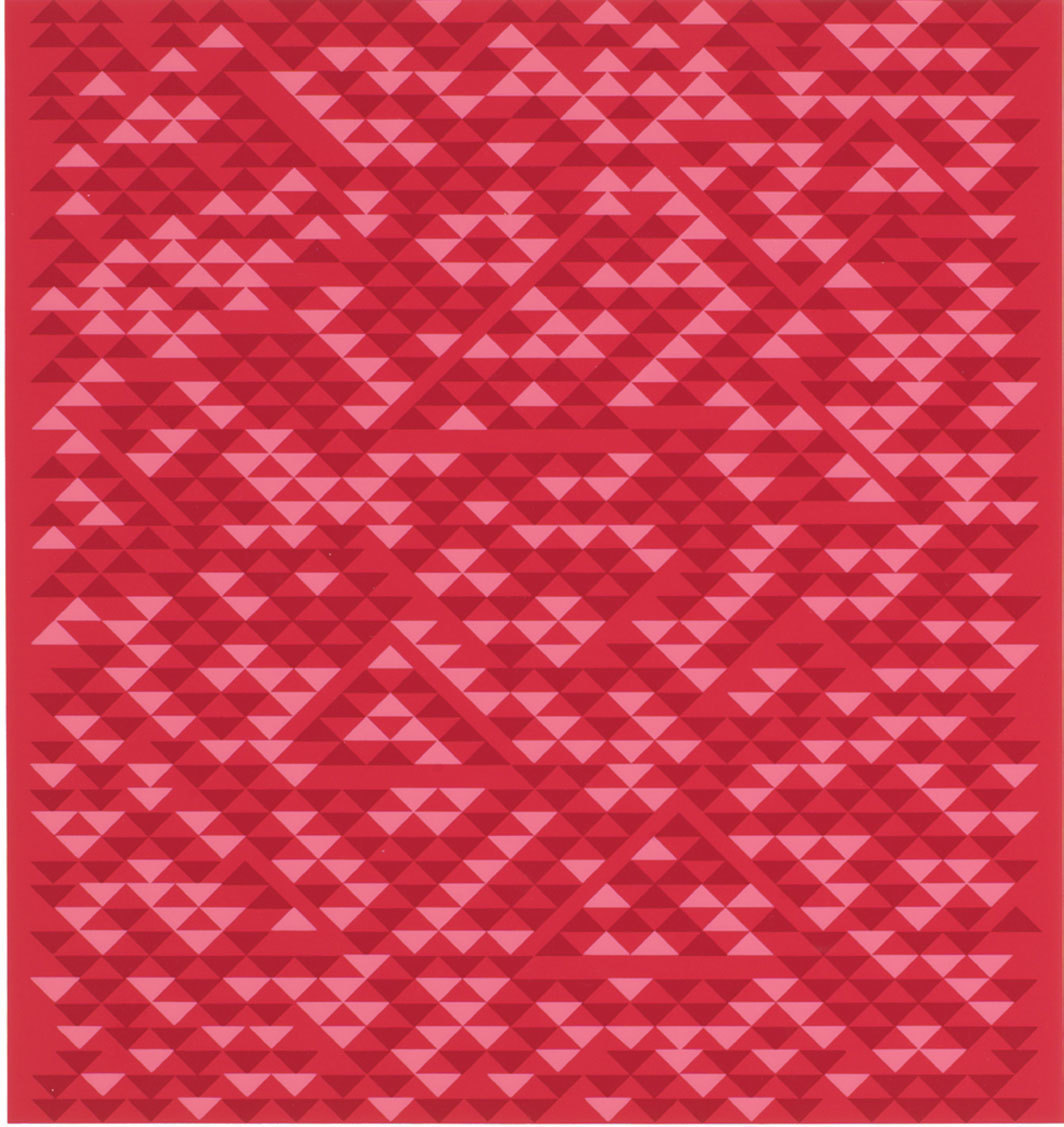 "Anni Albers, Camino Real, 1969, screenprint, 23 1⁄2 × 22""."