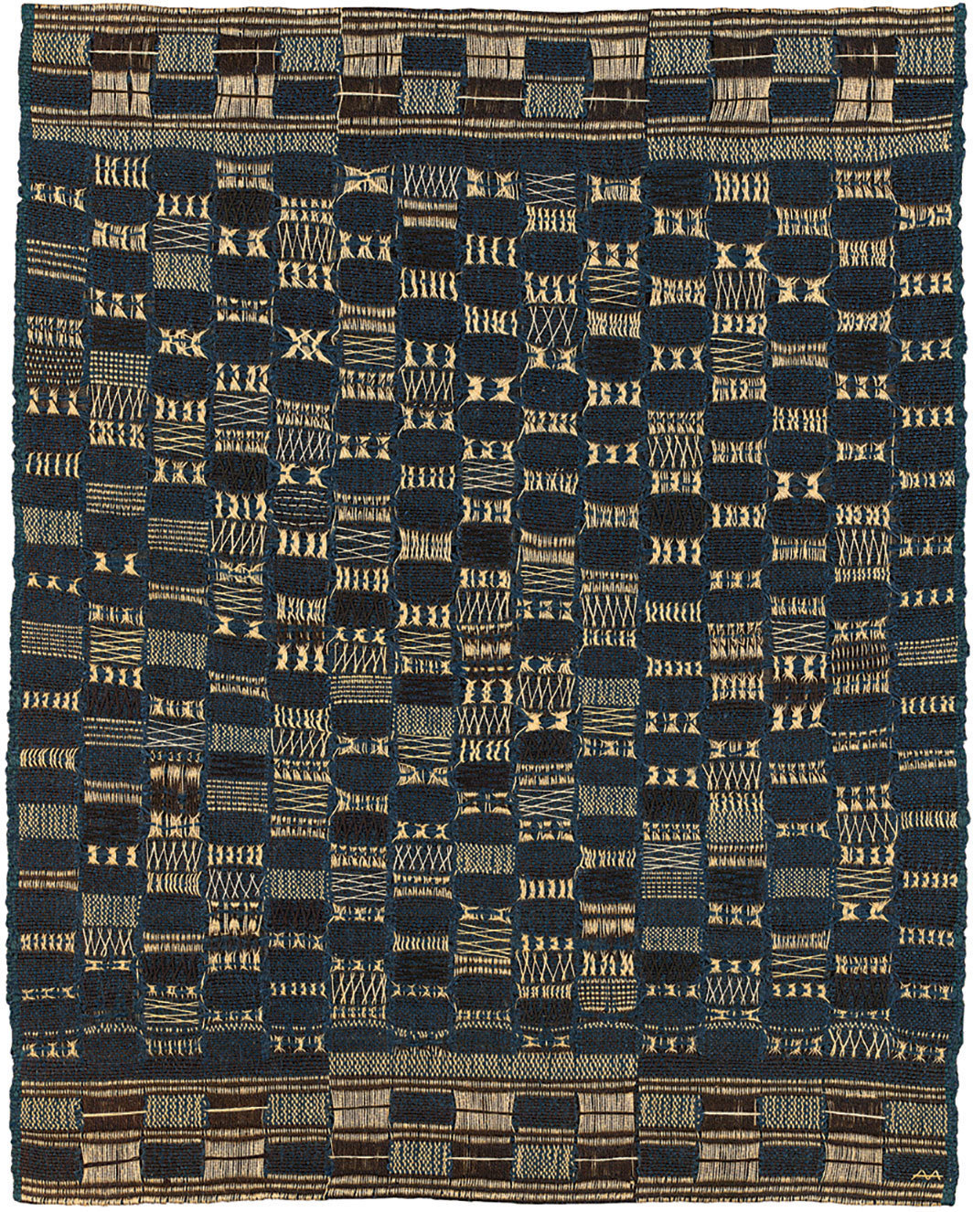 "Anni Albers, Thickly Settled, 1957, cotton, jute, 31 × 24 3⁄8""."