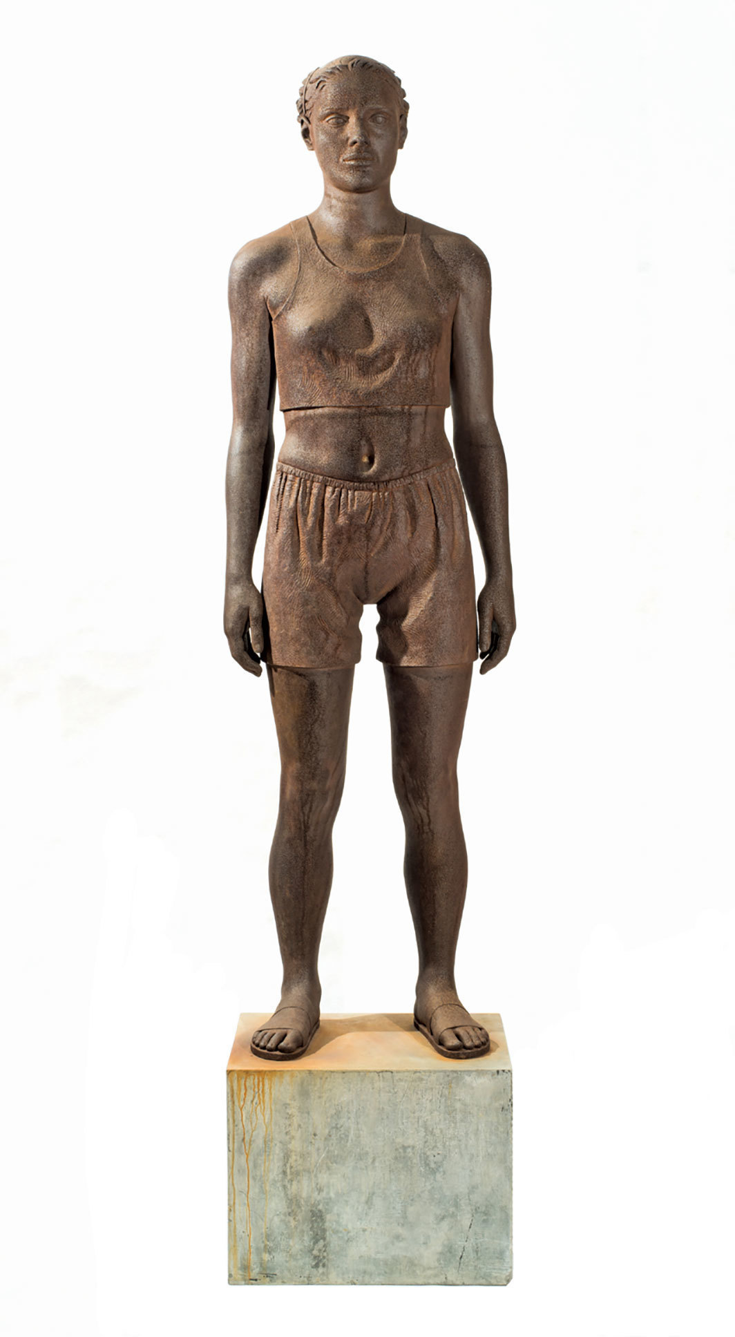 "Diana Moore, Full Figure No. II (Athlete), 1995, carbon steel, aluminum, 73 × 22 × 16"". Photo: Allan Stone Projects"