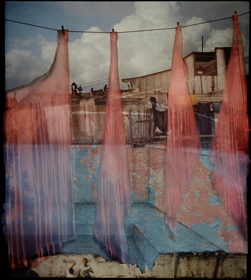 "Nancy Goldring, La Guarida, 2011, framed Cibachrome, photographic projection, 30 x 34""."