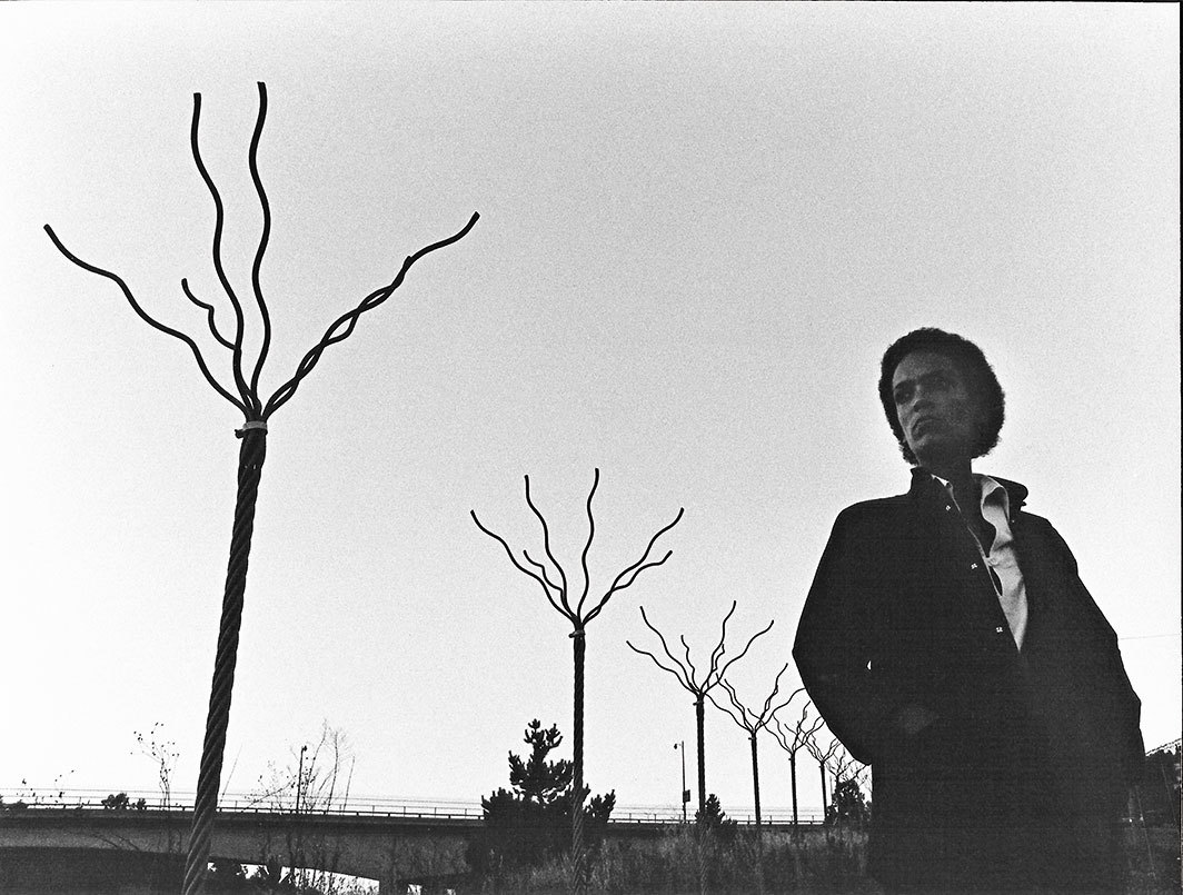 Maren Hassinger with Twelve Trees #2, 1979, Los Angeles, 1979. Photo: Adam Avila.