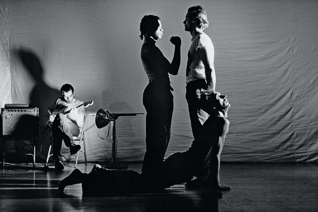 Chris Cochrane, Dennis Cooper, Ishmael Houston-Jones, Them, 1986. Performance view, Performance Space 122, New York, November 21, 1986. Chris Cochrane, Ishmael Houston-Jones, Jonathan Walker, and Donald Fleming. Photo: Dona Ann McAdams