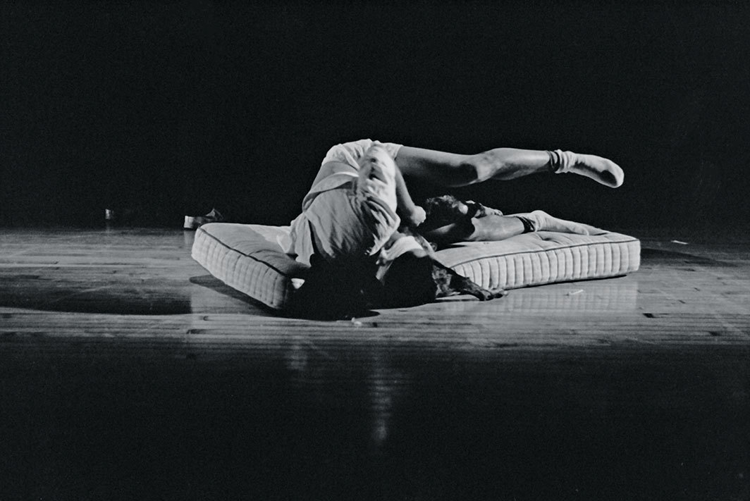 Chris Cochrane, Dennis Cooper, Ishmael Houston-Jones, Them, 1986. Performance view, Performance Space 122, New York, November 21, 1986. Ishmael Houston-Jones. Photo: Dona Ann McAdams.