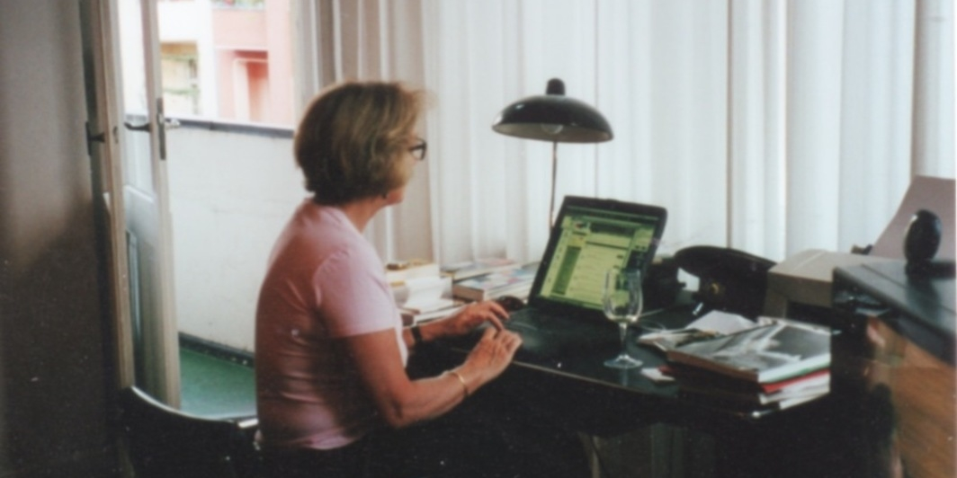 Anne MacDonald in her Berlin apartment. Photo: Maureen Keefe and Michael Penhallow.