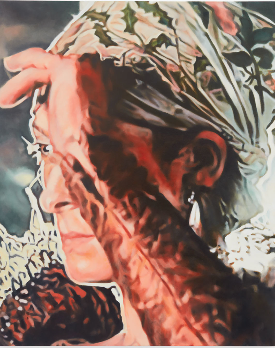 "Judith Eisler, Tilda 2, 2017, oil on canvas, 60 × 48""."