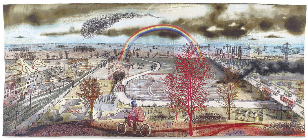 Grayson Perry, Battle of Britain, 2017, tapestry, 10 × 23'.
