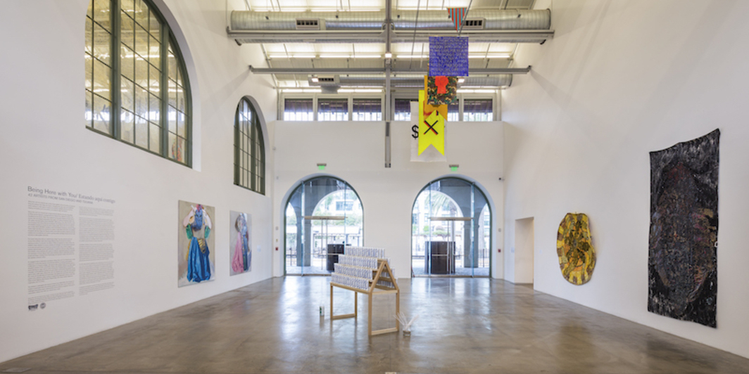 "View of ""Being Here with You/Estando acquí contigo: 42 Artists from San Diego and Tijuana,"" 2018."