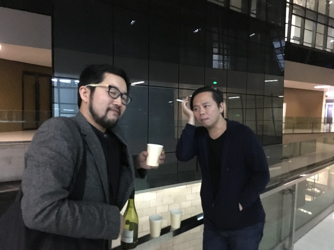 Editor Daniel Ho and artist Lee Kit.
