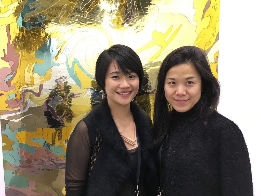 West Bund VIP relations Winnie Hu and Gladstone director Paula Tsai.