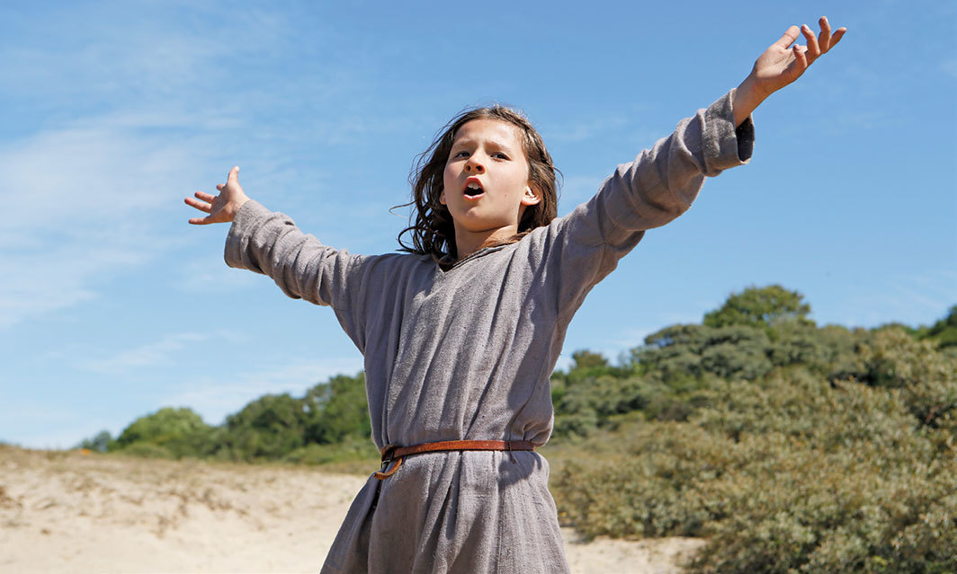Bruno Dumont, Jeannette: The Childhood of Joan of Arc, 2017, 2K video, color, sound, 106 minutes. Young Jeannette (Lise Leplat Prudhomme).