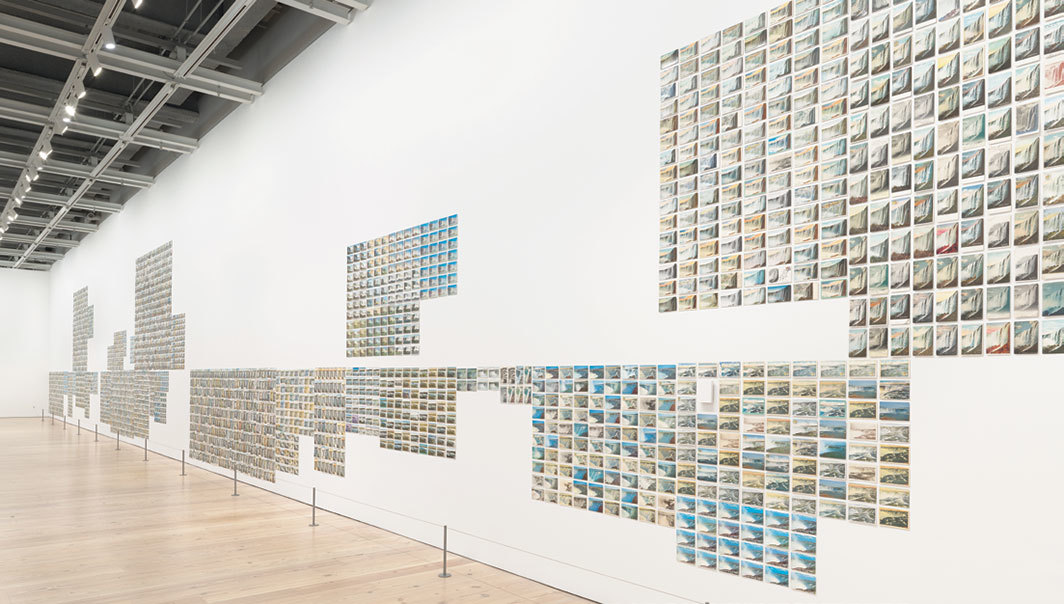 Zoe Leonard, You see I am here after all, 2008, 3,851 vintage postcards. Installation view, Whitney Museum of American Art, New York, 2018. Photo: Ron Amstutz.