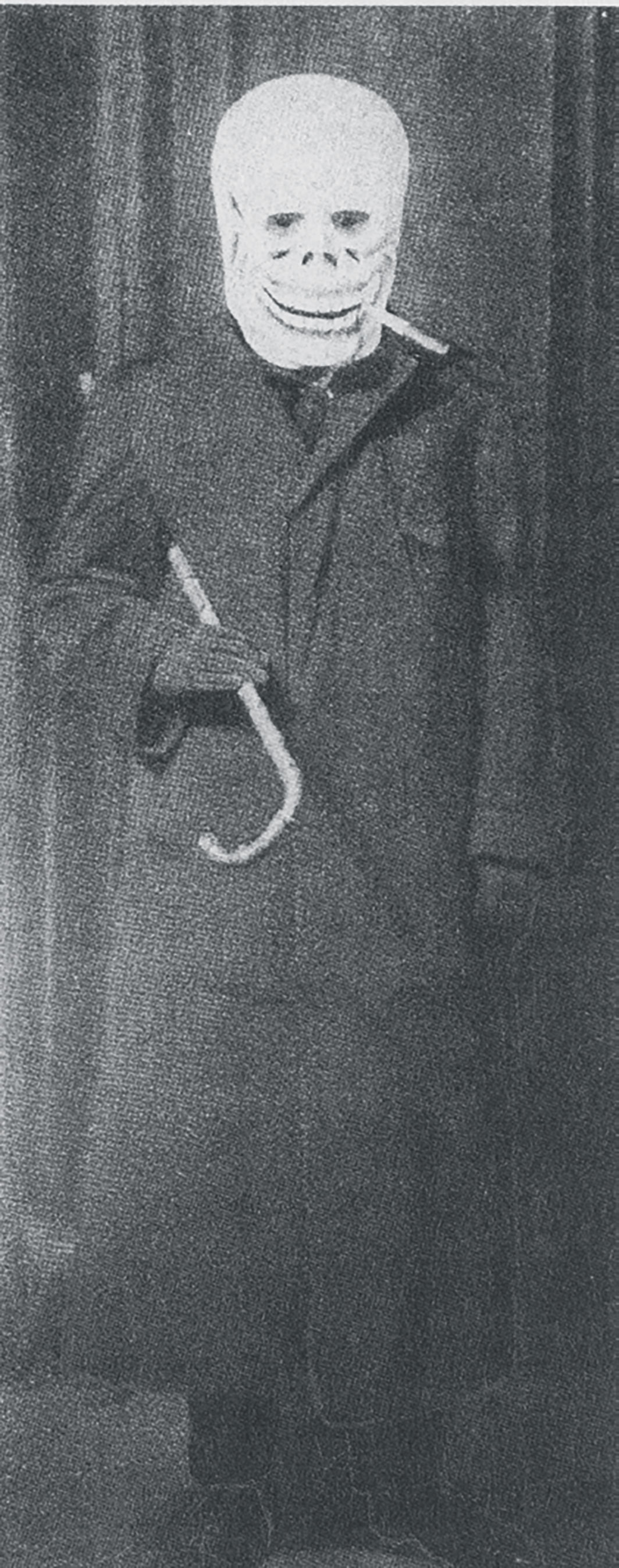 George Grosz in his Dada Death costume, Berlin, ca. 1918.