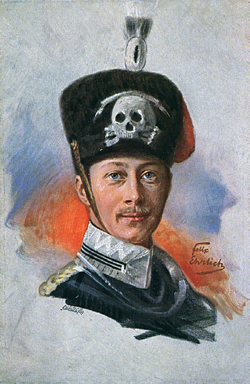 Postcard featuring a portrait of Crown Prince Wilhelm of Germany, date unknown.