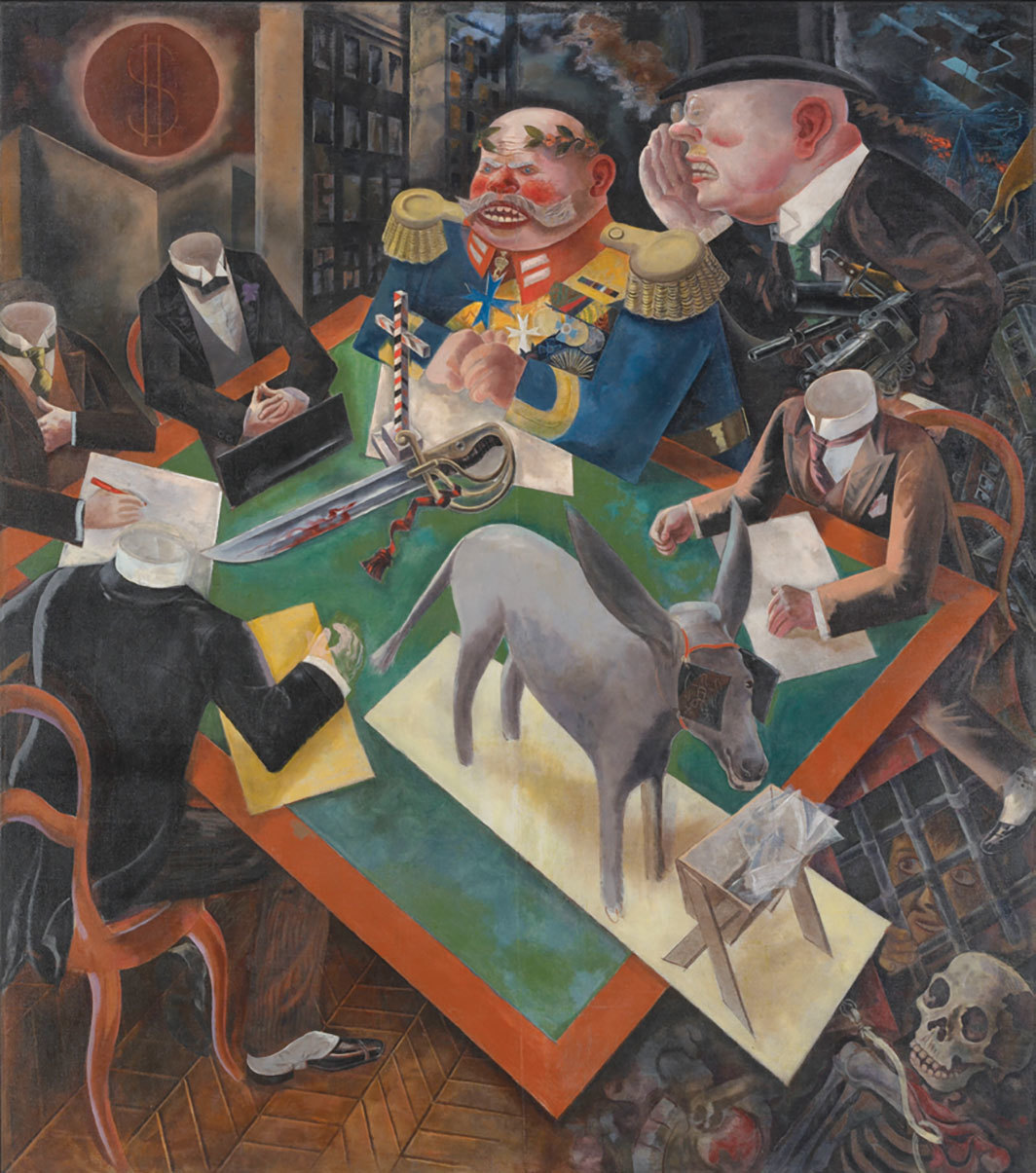 "George Grosz, Sonnenfinsternis (Eclipse of the Sun), 1926, oil on canvas, 81 5⁄8 × 71 7⁄8""."