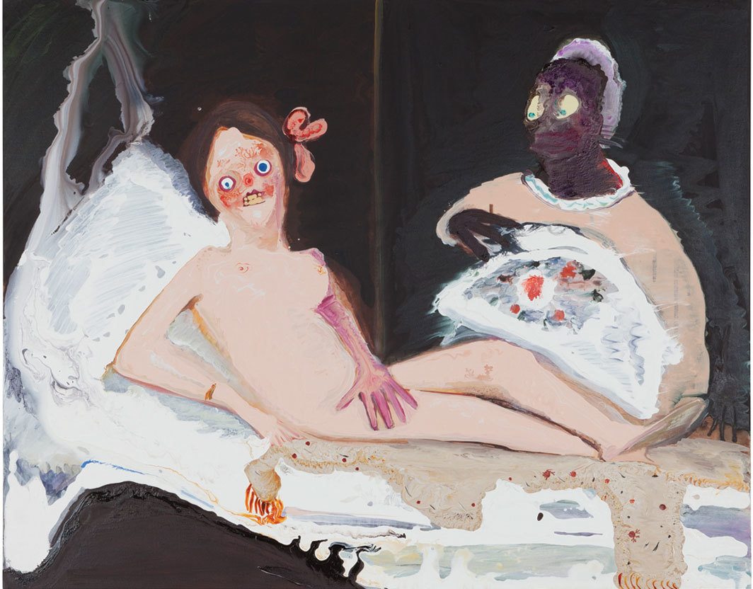 "Genieve Figgis, Olympia (after Édouard Manet), 2018, acrylic on canvas, 31 × 39""."
