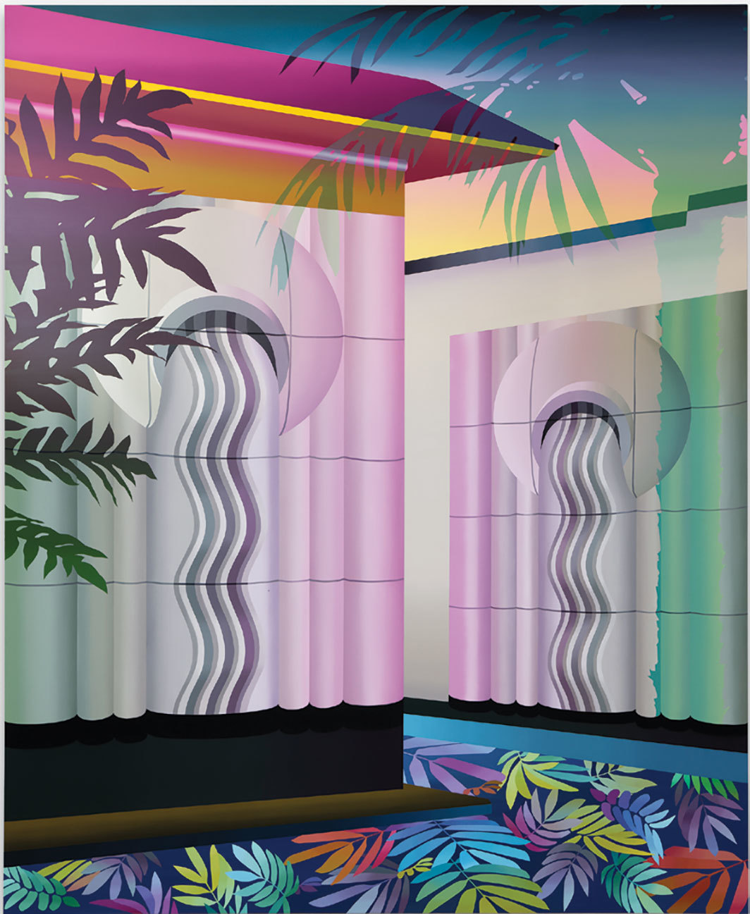 "Amélie Bertrand, Daisy Temple, 2018, oil on canvas, 86 5⁄8 × 70 3⁄4""."