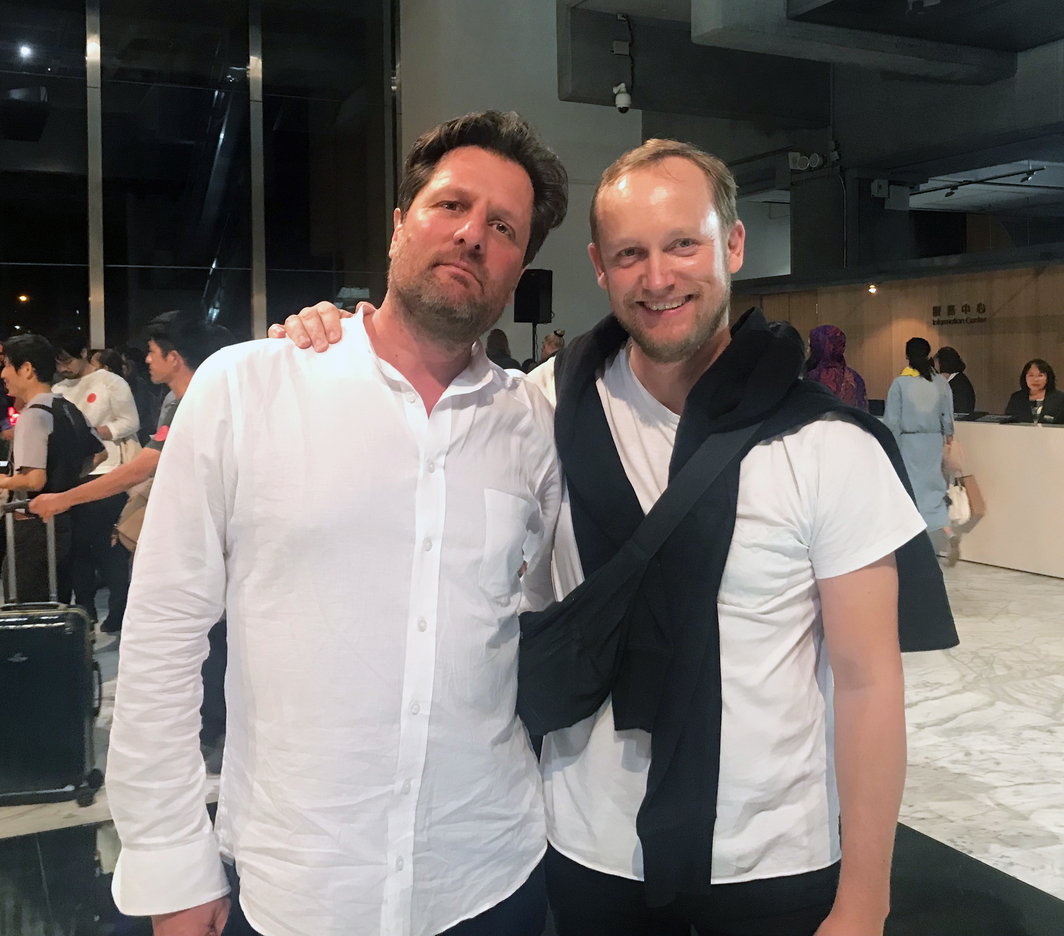 Artists Henrik Håkansson and Tue Greenfort.