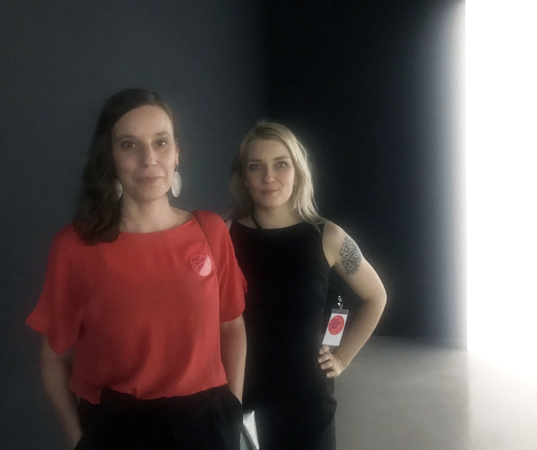 Artist Terike Haapoja and writer Laura Gustafsson from the collaborative project History of Others.