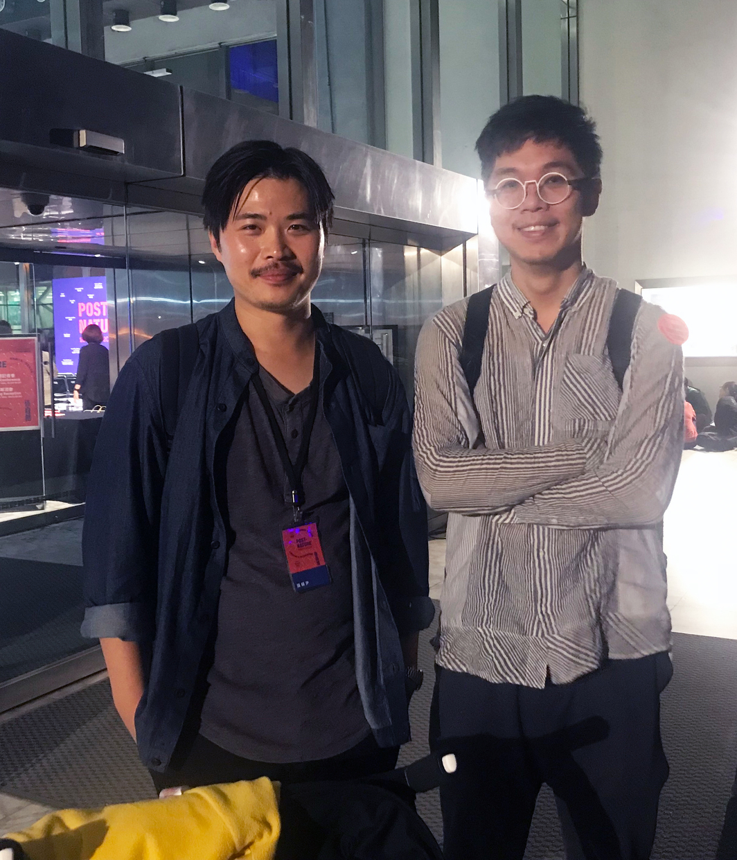 Artists Ting Tong Chang and Chu ChunTeng.