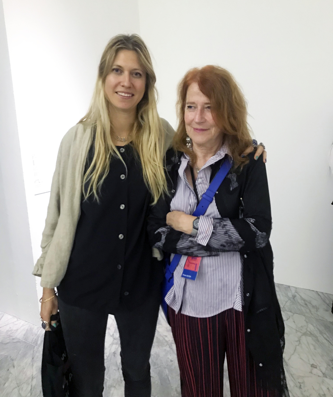 Artist Vivian Sutter (right) and Feodora Pallas.