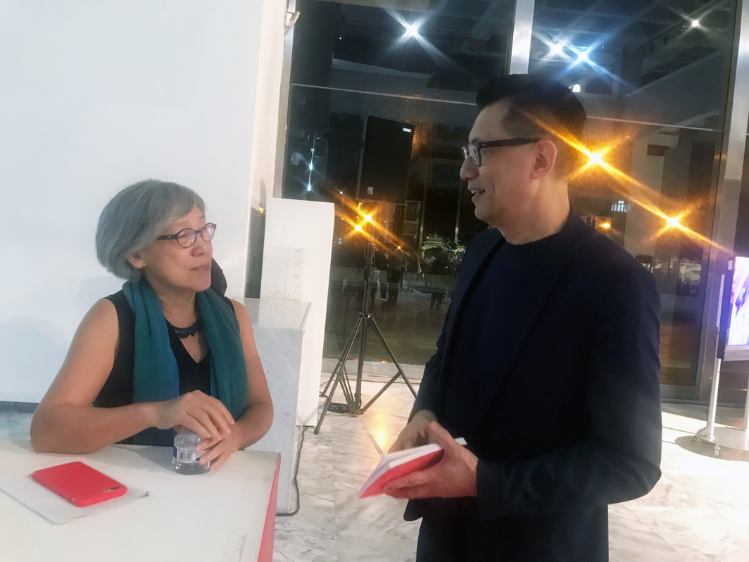 "Co-curator of the eleventh Taipei Biennial Mali Wu and curator of C-lab's ""Re-Base: When Experiments Become Attitude"" Jun-Jieh Wang."
