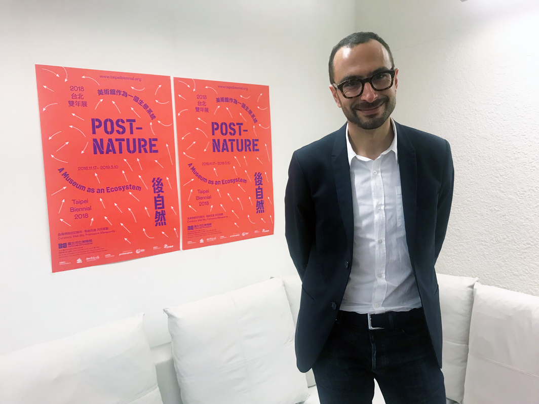Co-curator of the eleventh Taipei Biennial Francesco Manacorda.