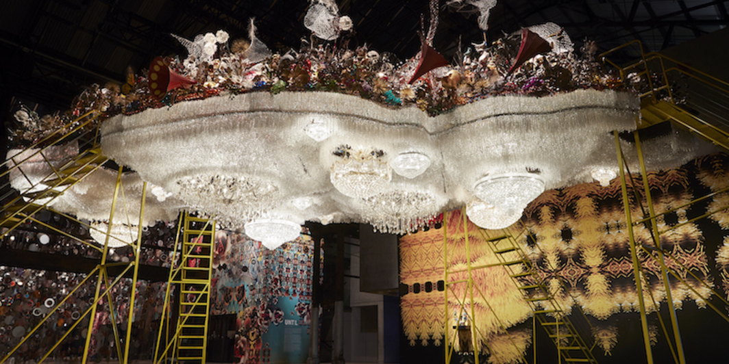 Nick Cave, Crystal Cloudscape, 2015–16, mixed media, dimensions variable. Installation view.