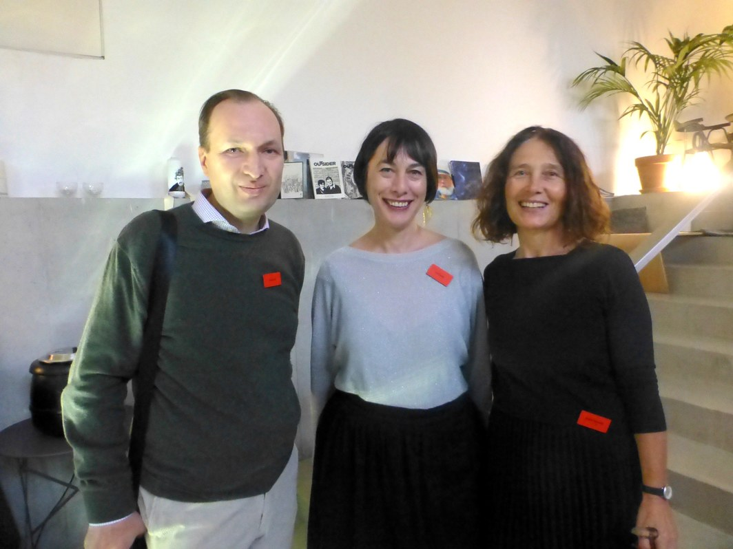 Curators Zoran Eric, Ivet Curlin and MG+MSUM's Adela Železnik.