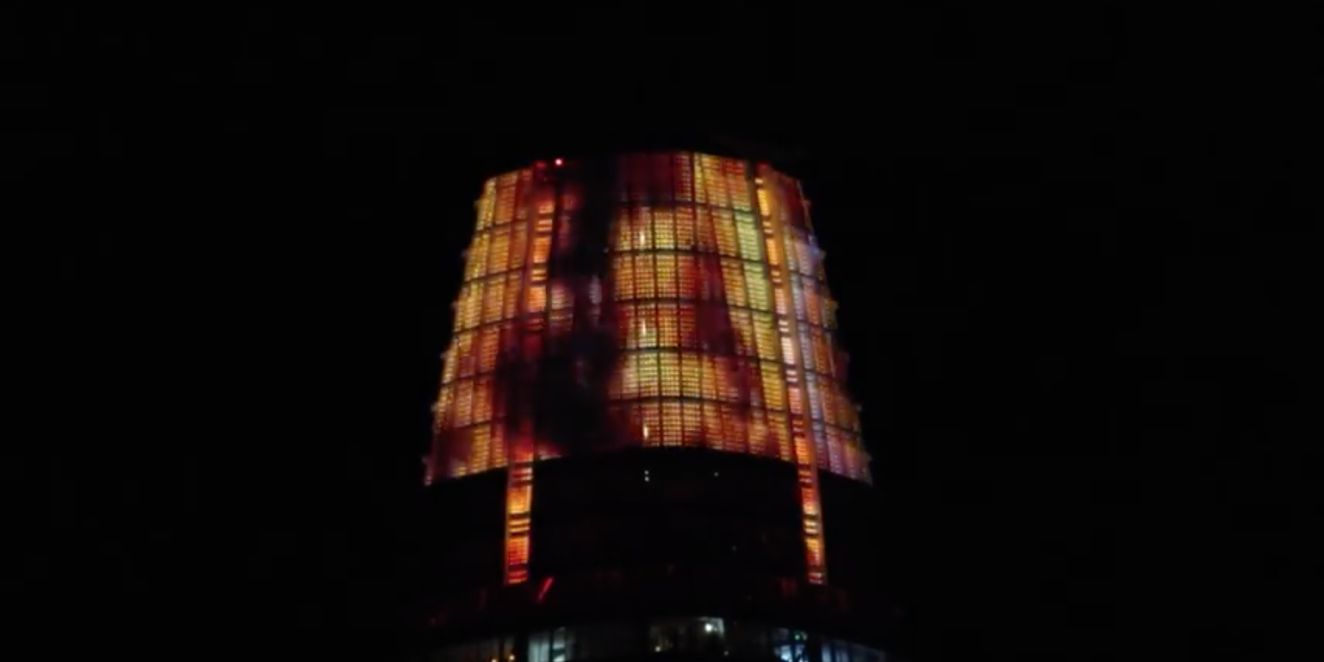 """Eye of Sauron"" on Salesforce Tower in San Francisco, Halloween, 2018"