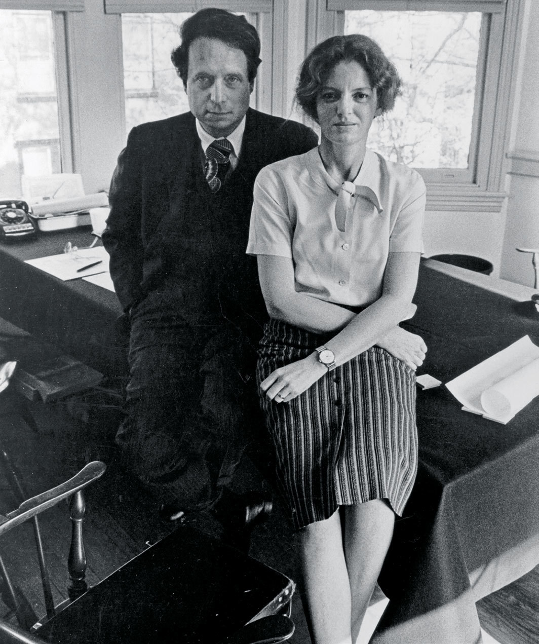 Robert Venturi and Denise Scott Brown in their first office, Pine Street, Philadelphia, ca. 1970s. Photo: George Pohl.