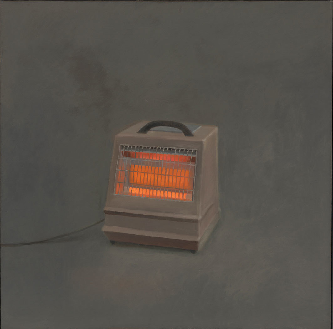 "Vija Celmins, Heater, 1964, oil on canvas, 47 5⁄8 × 48""."
