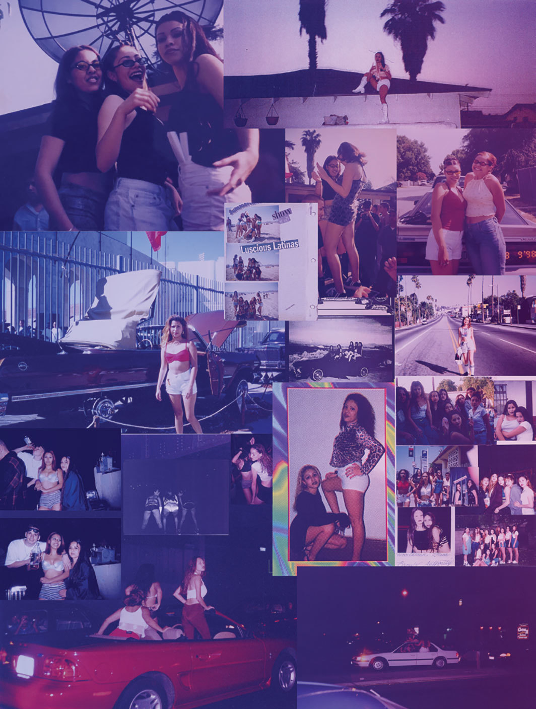 "Guadalupe Rosales, Latinas Mapping the City, ca. 1994–1998, 2018, ink-jet print on self-adhesive vinyl, 96 × 72""."