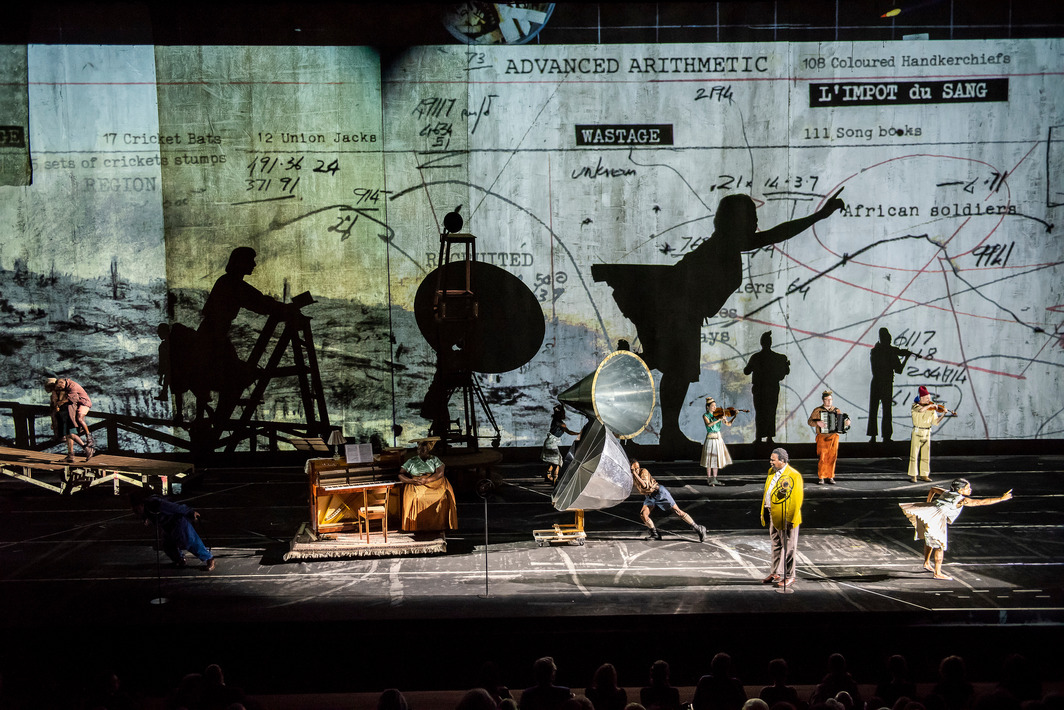 Wiliam Kentridge, The Head & The Load. Performance view, Park Avenue Armory, 2018. Photo: Stephanie Berger.