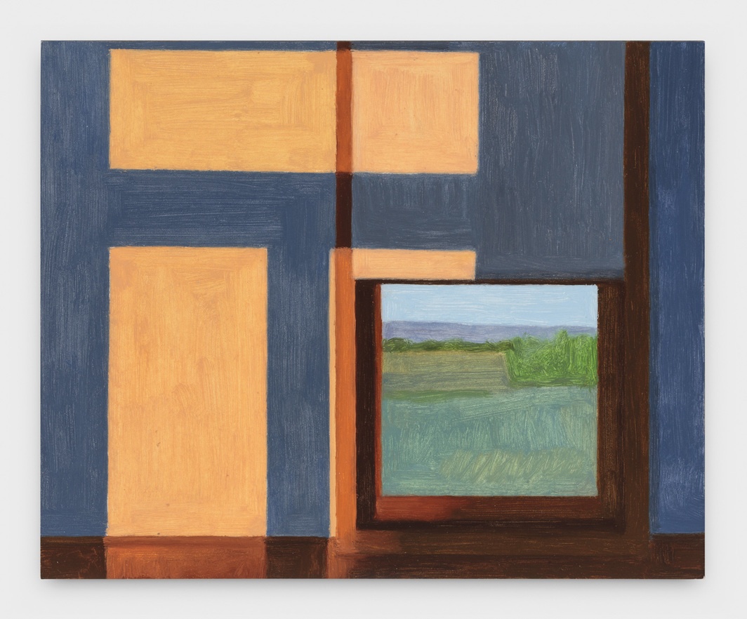 "Eleanor Ray, Wyoming Window, June, 2018, oil on panel, 6 1/2 x 8""."
