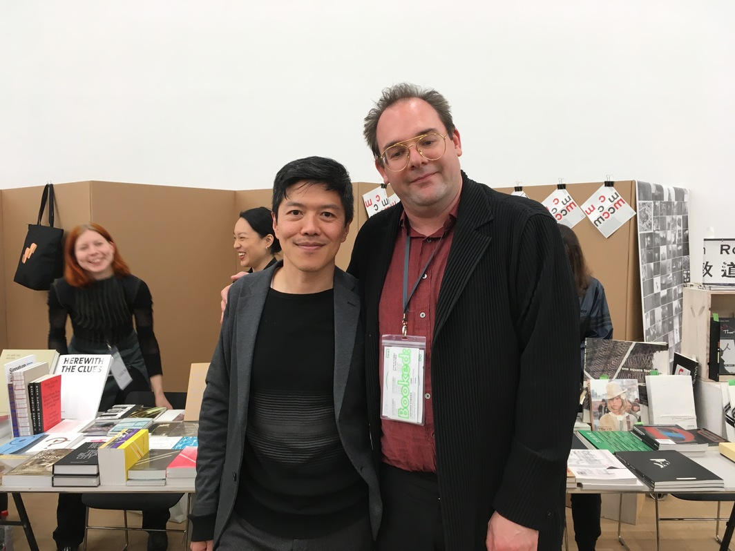Asia Art Archive Head of Research John Tain and Head of Arts at Tai Kwun, Tobias Berger.