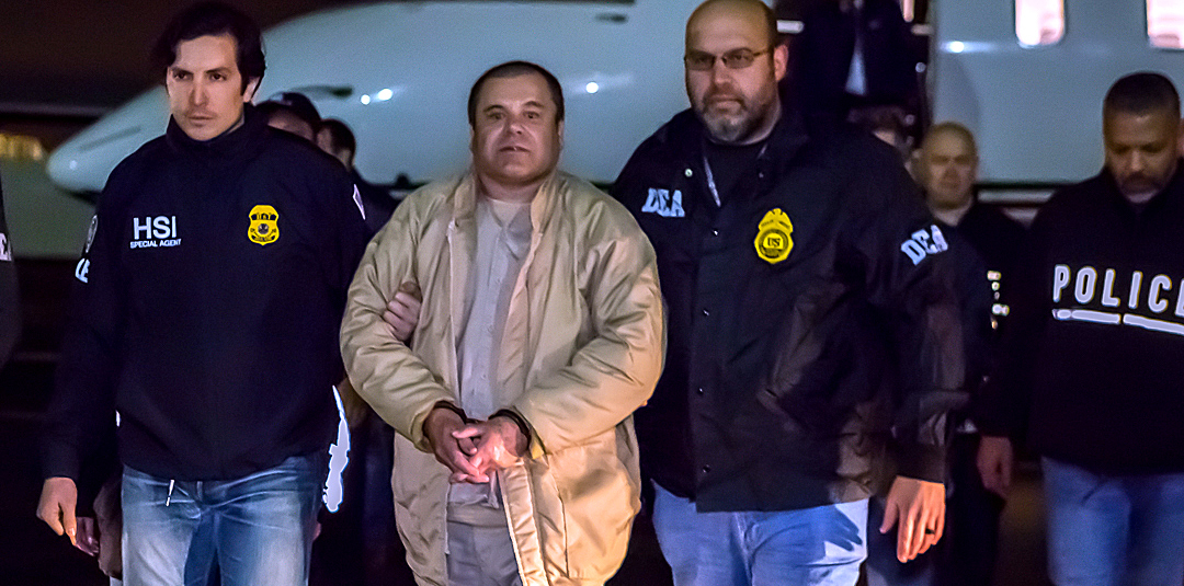 "Joaquín Guzmán Loera, also known as ""El Chapo."" in U.S. custody, January 19, 2017."