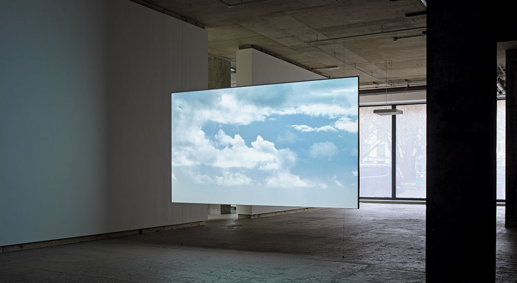 Fiona Tan, Elsewhere, 2018, HD video, color, sound, 16 minutes 10 seconds. Installation view.