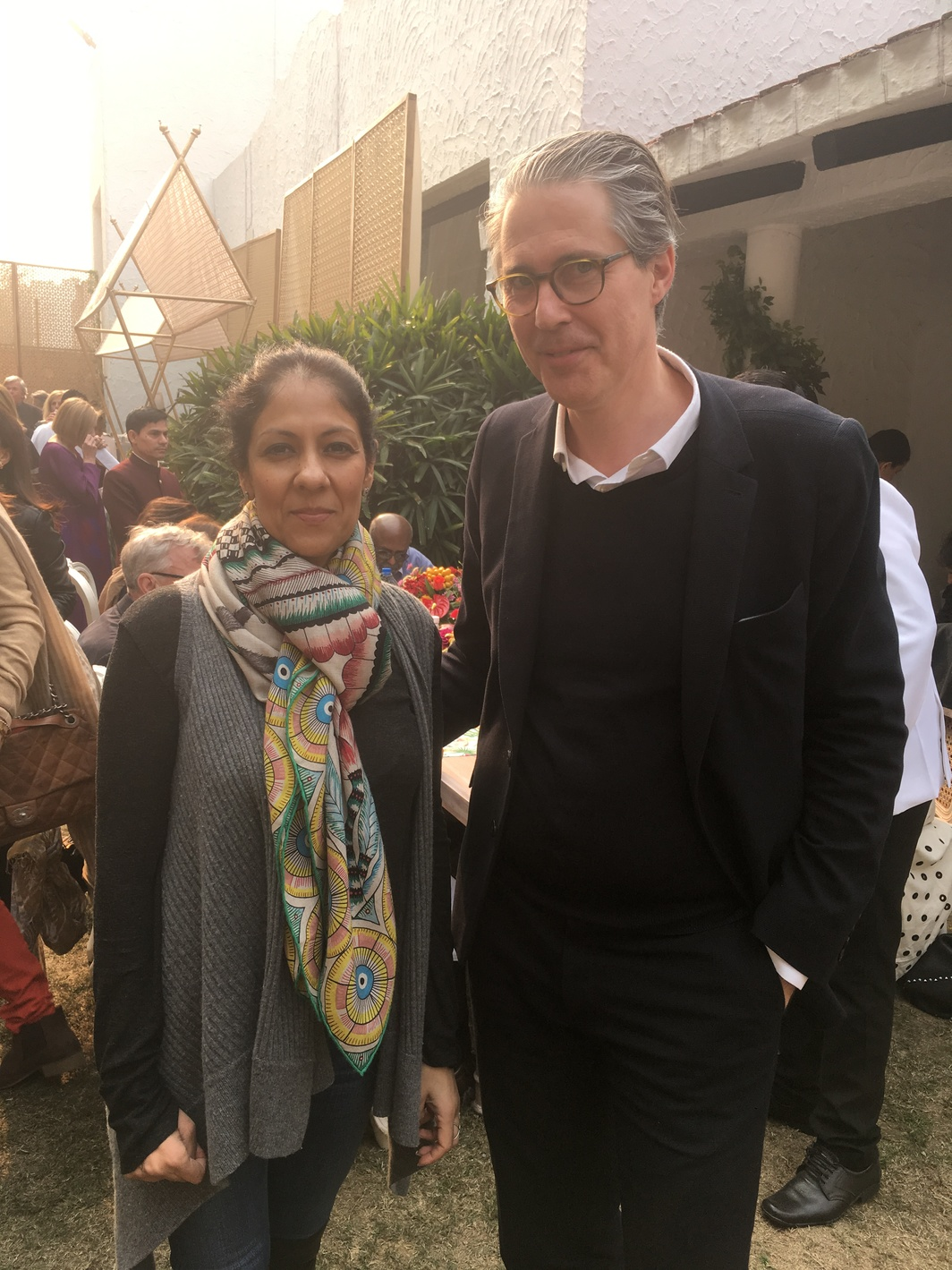 Radhika Chopra and gallerist Tim Neuger.