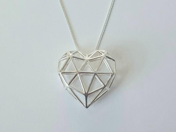 Heart cage necklace.