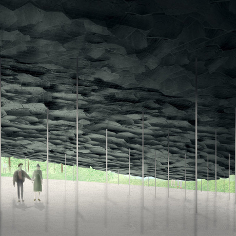 Design rendering of the 2019 Serpentine Pavilion. Photo: Junya Ishigami + Associates.