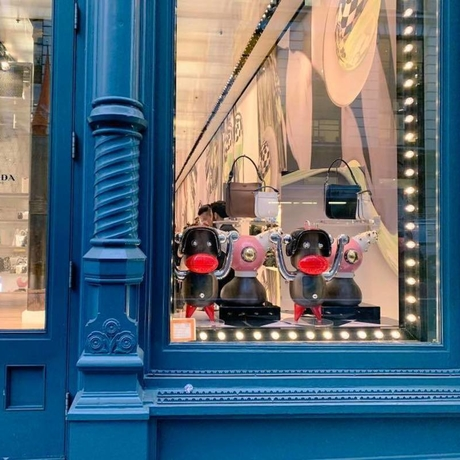 Prada store in New York, with the products that provoked the controversy. Photo: Chinyere Ezie.
