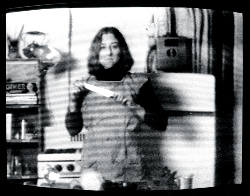 Martha Rosler, Semiotics of the Kitchen, 1975, video, black-and-white, sound, 6 minutes 13 seconds.