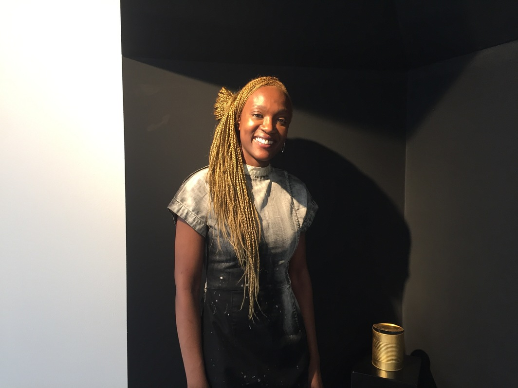 Artist Arlene Wandera with Centrestage, 2016.